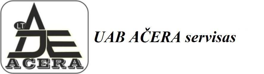 ACERA servisas - visos įrankių atsarginės dalys